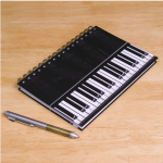 piano keys spiral notebook